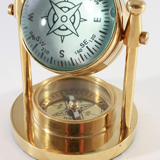 """2"""" Swivel Clock with Compass by Clipperlight - © Nick Gravenor"""
