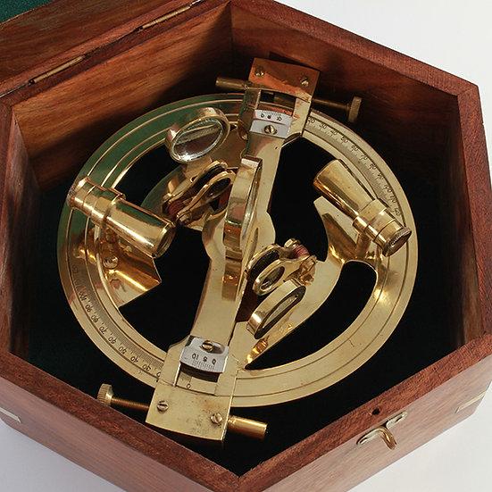 "6"" Full Round Brass Sextant in Sheesham box by Clipperlight - © Nick Gravenor"