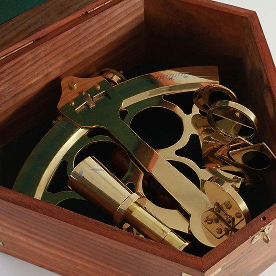 "8"" Quarter Round Brass Sextant by Clipperlight - © Nick Gravenor"