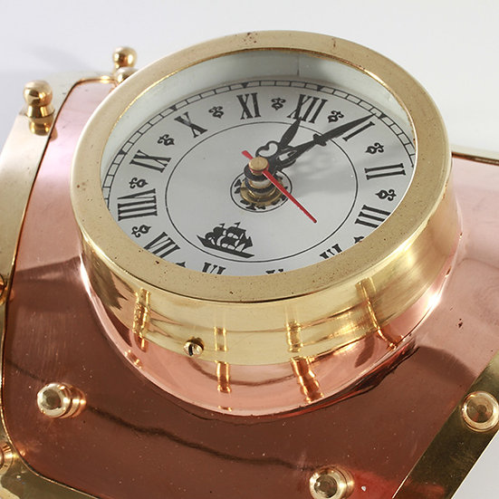 """4"""" Brass Clock on Divers Plate by Clipperlight - © Nick Gravenor"""