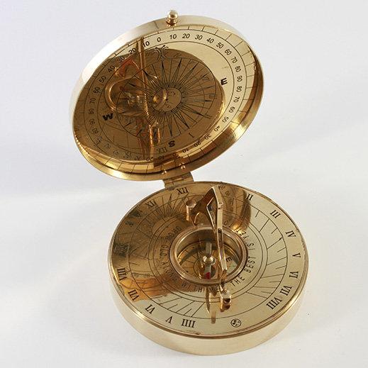 "4"" Brass Sundial Compass by Clipperlight - © Nick Gravenor"