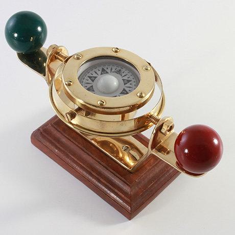 """1.75"""" Brass Gimbled Compass by Clipperlight - © Nick Gravenor"""