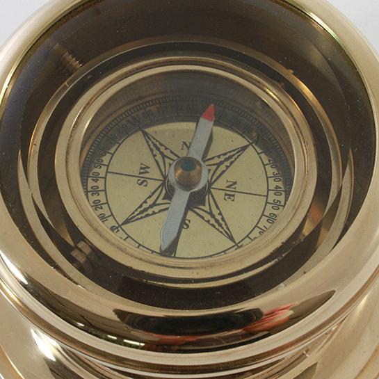 """3"""" Gimbled Brass Compass by Clipperlight - © Nick Gravenor"""