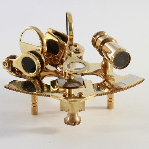 "3"" Half Round Brass Sextant by Clipperlight - © Nick Gravenor"