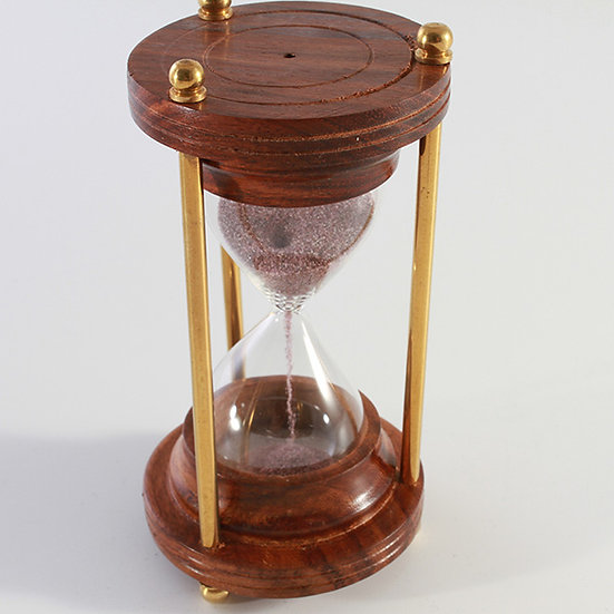"""2"""" Brass Sand Timer with Wood Ends by Clipperlight - © Nick Gravenor"""
