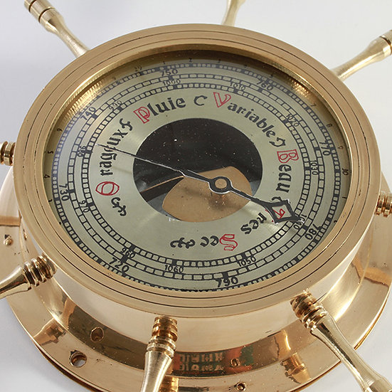 "4"" Barometer set in a ships wheel by Clipperlight - © Nick Gravenor"