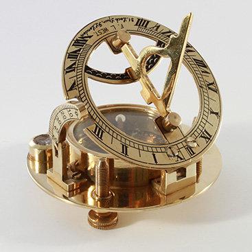 "2.5"" Brass Sundial Compass by Clipperlight - © Nick Gravenor"