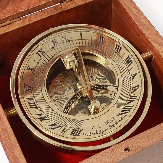 "3"" Gimbaled Sundial Compass by Clipperlight - © Nick Gravenor"