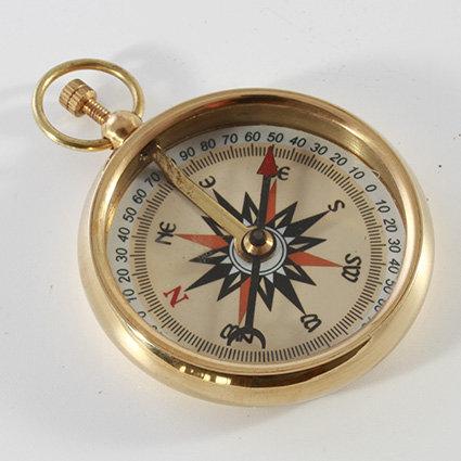 "2"" Brass Pocket Compass by Clipperlight - © Nick Gravenor"
