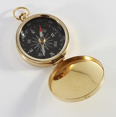 "1.75"" Brass Pocket Compass by Clipperlight - © Nick Gravenor"