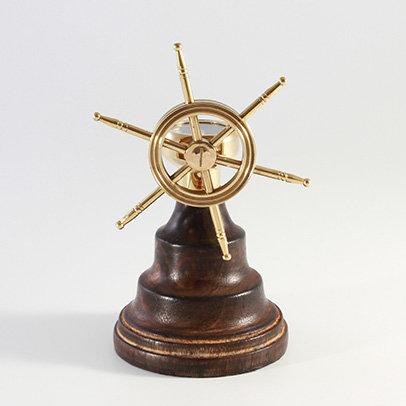 "1.5"" Brass Compass on Ships Wheel by Clipperlight - © Nick Gravenor"