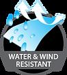water & wind resistant