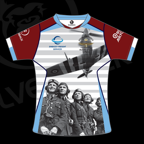 RAF Vipers White Performance Rugby Shirt