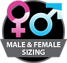 Male & female sizing