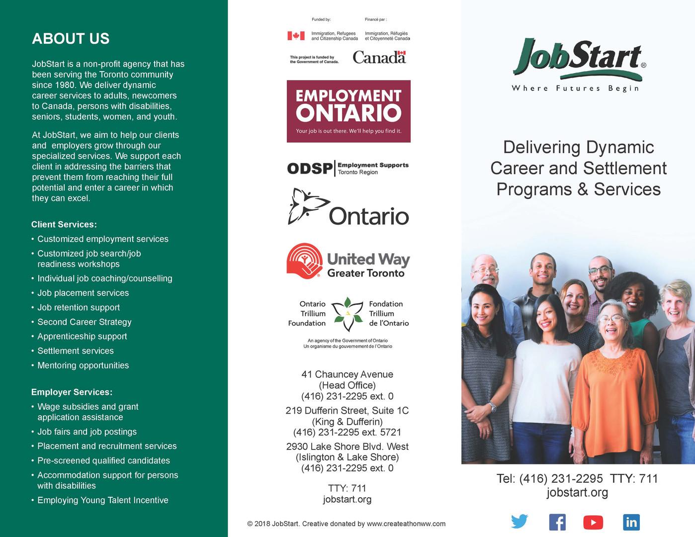 JobStart Brochure - Front