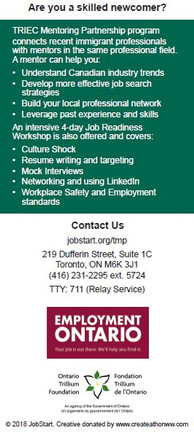TRIEC Mentoring Partnership Flyer - Back