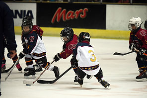 Guildford Junior Players playing hockey