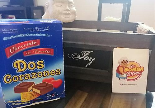 Dos Corazones Bombones Milk Chocolate Bites Filled with Vanilla Cream by Felfort