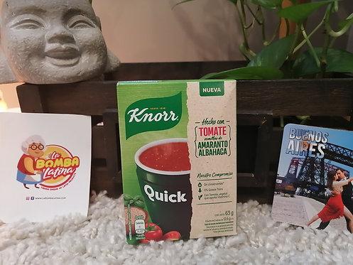 Sopa Quick Knorr - 5 Sobres -Tomate y Albahaca