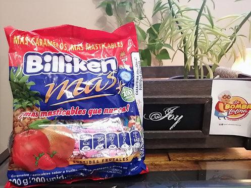 Caramelos Billiken masticables Frutales 600 grs