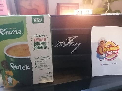Sopa Quick Knorr - 5 Sobres - Zapallo, Romero y Pimienta