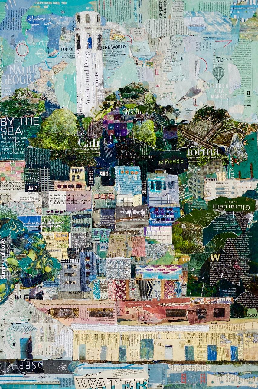 Coit Tower Fine Art Collage