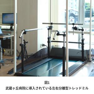 武蔵ヶ丘病院に導入されている左右分離型トレッドミル