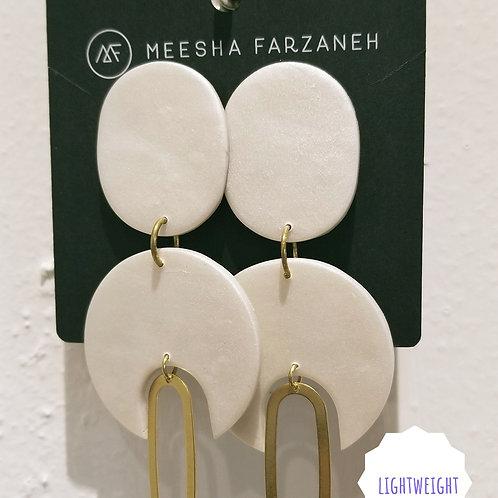Pearl Desert Goddess Dangles (white)