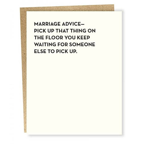 Marriage Advice Card
