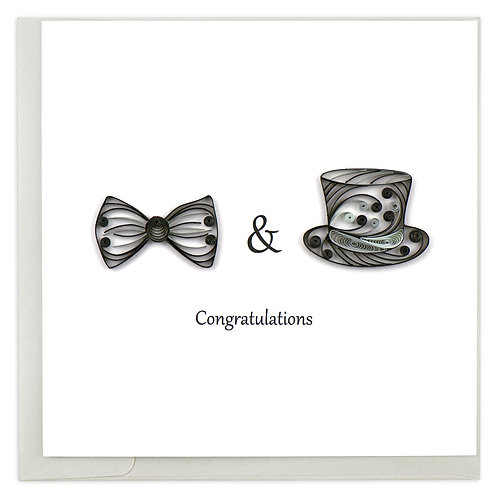Quilling Card - Two Grooms