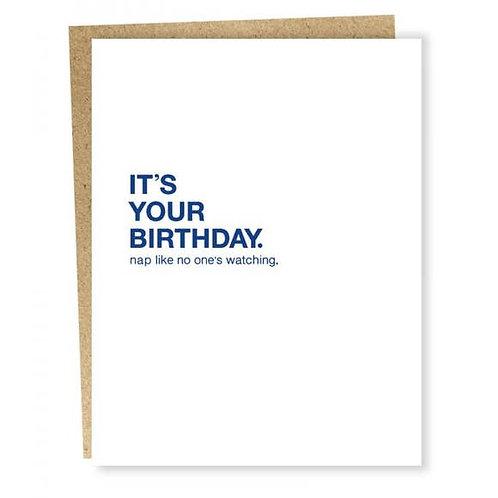 Birthday Nap Card