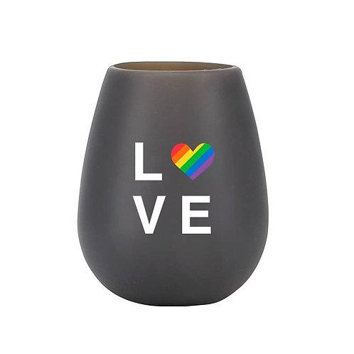 Love Stemless Silicone Wine Glass