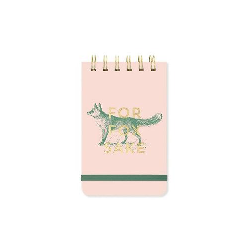 Vintage Notepad - For Fox Sake