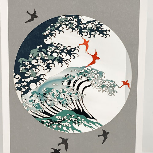 Ocean Rising Cutout Blank Card