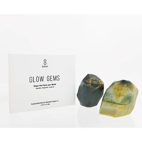 Grey Gem Stone Soap - Glow Gems - Set of 2