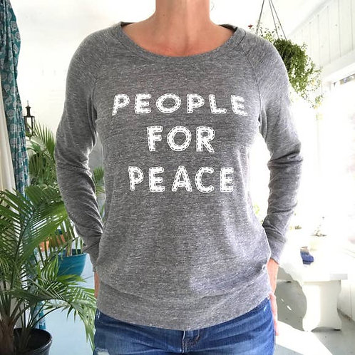 People For Peace Heather Grey Pullover