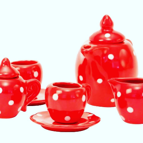 Red Tea Party Kit