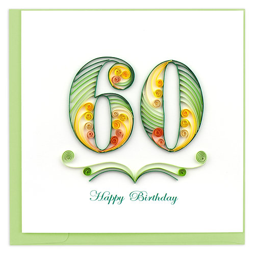 Quilling Card - 60th Birthday