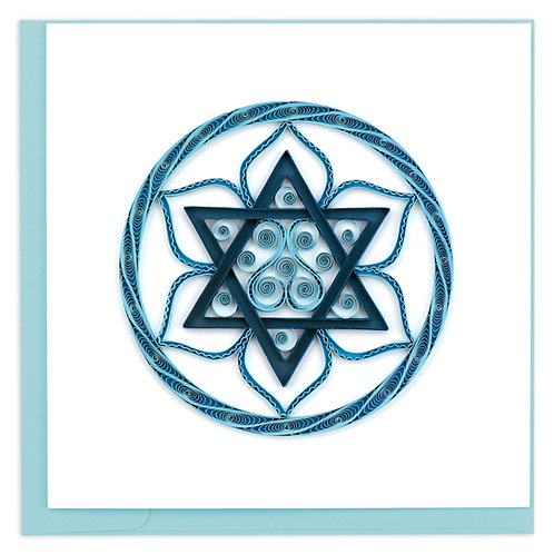 Quilling Card - Star of David