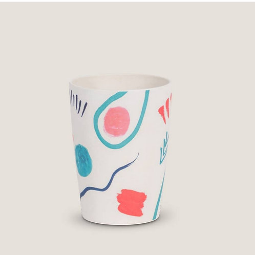 Abstract Bamboo Tumbler