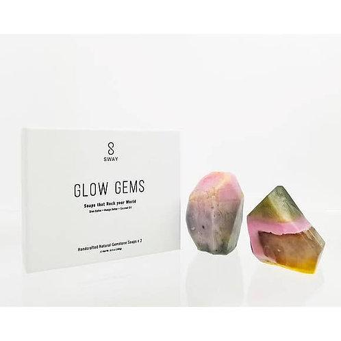 Pink Gemstone Soap - Glow Gems - Set of 2