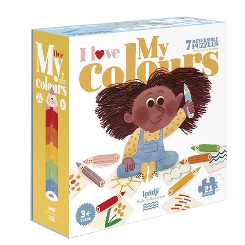 LONDJI I Love My Colors Puzzle - 21 Pieces
