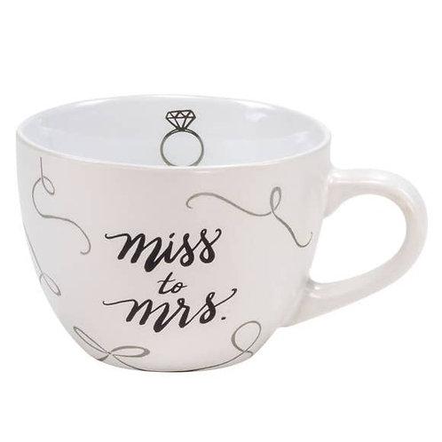 Miss to Mrs Large Bride Stoneware Mug