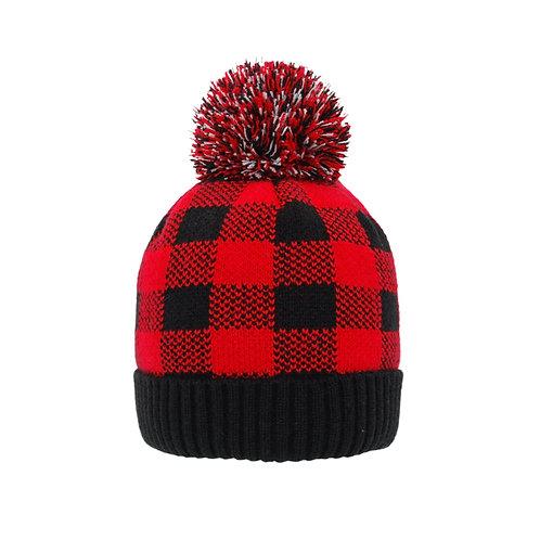 Kids Winter Beanie Hat   Lumberjack RedKids Winter Beanie Hat   Lumberjack RedK