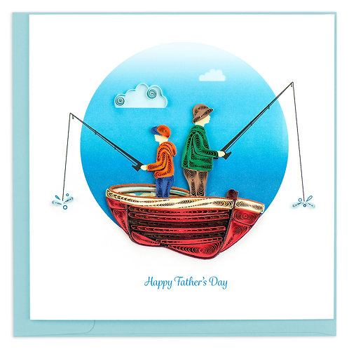 Father's Day Fishing Together - Quilled