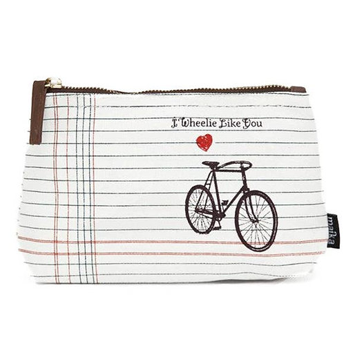 I Wheelie Like You Canvas Pouch Medium