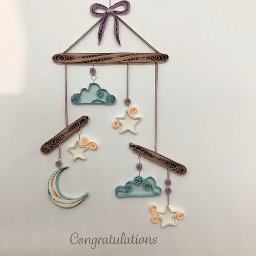 New Baby Congratulations - Quilling Card