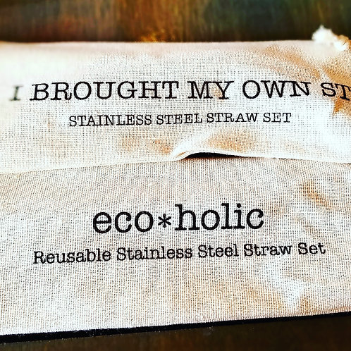 Shell Creek Sellers Reusable Straws - eco*holic Stainless Straw Set