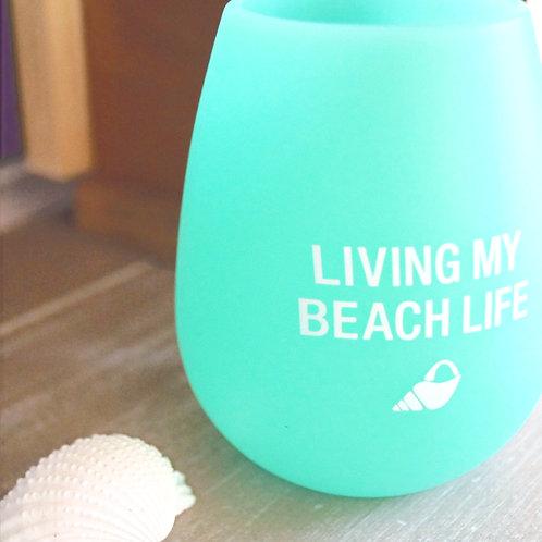 Beach Life Silicone Wine Glass