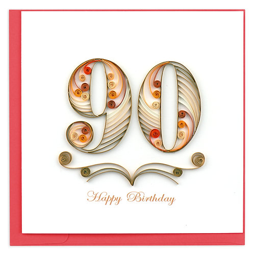 Quilling Card - 90th Birthday